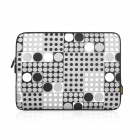 "ENKAY ENK-2001 Retro Dot Pattern Sleeve Bag for 1.3"" / 13.3"" Laptop - Black + Light Grey + White"