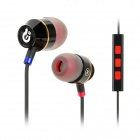 Syllable T18-001 Wired 3.5mm Jack In-Ear Earphones w/ Microphone for Iphone 5 / 4S - Black (120cm)