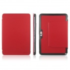 ENKAY ENK-7008 PU Stand Case for Samsung Galaxy Note 10.1 N8000 / N8010 - Red + Black