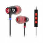 Syllable T19-001 Wired 3.5mm Jack In-Ear Earphones w/ Microphone for Iphone 5 / 4S - Black (120cm)
