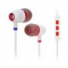 Syllable T19-002 Wired 3.5mm Jack In-Ear Earphones w/ Microphone for iPhone 5 / 4S - White (120cm)