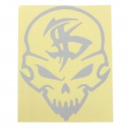 Skull Pattern DIY Car Body Reflective Sticker - Silver