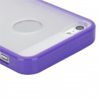 Protective TPU + PC Matte Case for iPhone 5 - Purple Frame