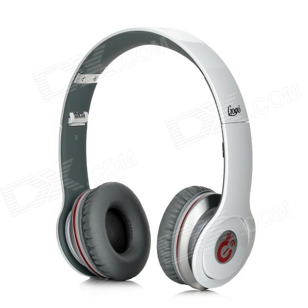 Syllable G05-002 Wired Super Bass Headphones w/ Microphone for Iphone 4 / 4S - White + Grey merrisport lightweight foldable wired girls headphones kids headsets with microphone and remote control for computer phone mp3 4