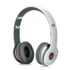 Syllable G05-002 Wired Strong Low Sound Headphones w/ Microphone for iPhone 4 / 4S - White + Grey