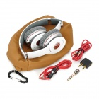 Syllable G05-002 Wired Super Bass Headphones w/ Microphone for Iphone 4 / 4S - White + Grey
