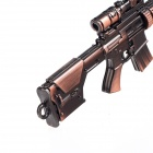 Z03 Retro Style Zinc Alloy Assembled Mini Gun Toy - Copper + Bright Black