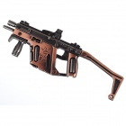 Z02 Cool Zinc Alloy Assembly Mini Gun Toy - Red Copper + Bright Black