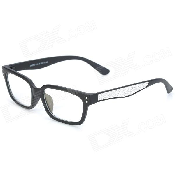 купить SENLAN M6275 Radiation Protection Acetate Fiber + PU Frame Resin Lens Eyeglasses - Black + White дешево
