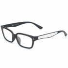 SENLAN M6275 Radiation Protection Acetate Fiber + PU Frame Resin Lens Eyeglasses - Black + White