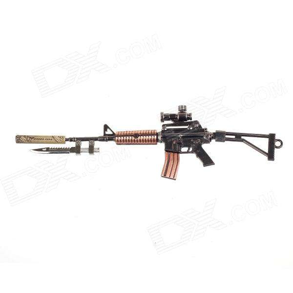 Z07 Cool Zinc Alloy Assembly Mini Gun Toy w/ Keychain - Red Copper + Bright Black + Golden