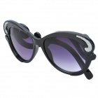 SENLAN 6253 Retro UV400 Protection Acetate Fiber + PU Frame PC Lens Sunglasses - Black + White