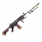 Z08 Cool Zinc Alloy Assembly Mini Gun Toy w/ Bayonet