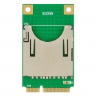 SD Card Mini PCI-E Adapter für Laptop - Green + Golden (max. 16GB)
