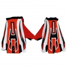 PRO-BIKER CE-01B Non-slip Half-Fingers Motorcycle Racing Gloves - Red + White + Black (Size XL)