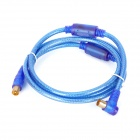 Yinyewang H732C-1.5m CATV Digital RF Male to Male Right Angle Cable - Blue + Golden (150cm)