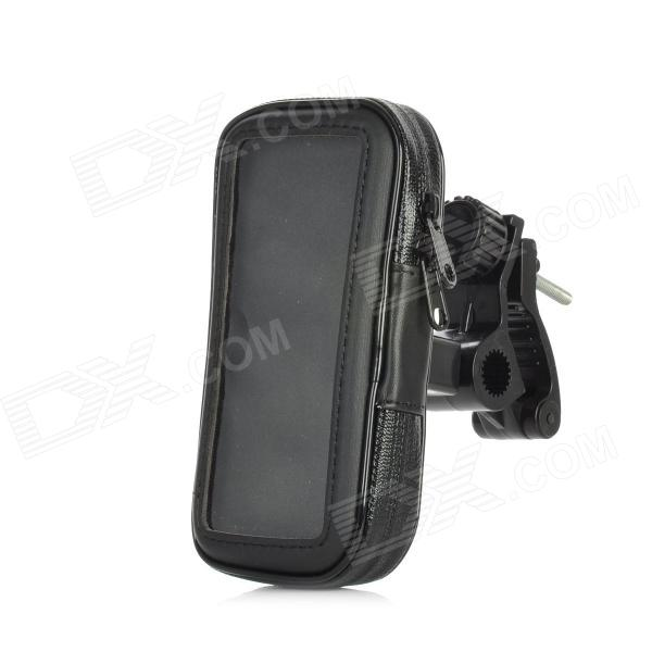 Motorcycle Clamp Style 360 Degree Rotatable Mount Holder w/ Zippered Case for Iphone 5 - Black 360 degree rotatable motorcycle mount holder w waterproof bag for iphone 4 4s black