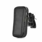 Motorcycle Clamp Style 360 Degree Rotatable Mount Holder w/ Zippered Case for Iphone 5 - Black