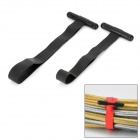 Boomray CC-939L Universal Power Cable Silicone Cord Bands Organizers - Black (2 PCS)