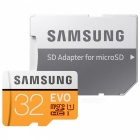 Samsung MB-MPBGB Class 10 Micro SDHC TF Card w/ TF to SD Card Adapter - Black + Orange (32GB)