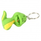 Snake Style LED White Light Keychain - Green + Yellow (2 x AG13)