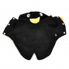 QQ Penguin Shaped Cotton Velvet Dog Apparel Pet Cloth - Black (Size M)