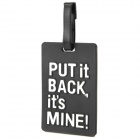 Put It Back It's Mine Style Travel Suitcase Luggage ID Tag - Blue + Black
