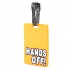 Cute Hands Off Style Travel Suitcase Luggage ID Tag - Orange