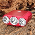 LZZ-01 Cree XM-L T6 + 2 x XP-G R5 1200lm 5-Mode White Bike Light - Red ( 4 x 18650)