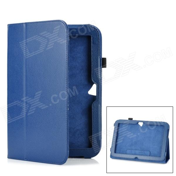 Protective PU Leather Case Stand w/ Pen Holder for Microsoft Surface RT - Blue