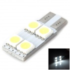 Lgfox T10-4SMD E (one side) T10 0.7W 80lm 4-SMD 5050 LED White Car Steering Light
