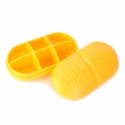 Pill Style 6-Square PP Pill / Capsule Medicine Management Organizer Box - Yellow
