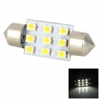 Lgfox 39mm-9led Festoon 39mm 0.9W 90lm 9-SMD 1210 LED Car Reading Light (DC 12V)