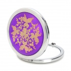 Portable Aluminum Alloy Cosmetic Mirror - Purple