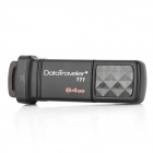 kingston DT111-64G USB 3.0 Flash Drive - Black (64GB)