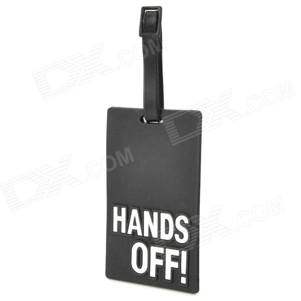 Hands Off Style Travel Suitcase Luggage ID Tag - Black