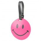 Fun Smiley Face Style Travel Suitcase Luggage ID Tag - Deep Pink