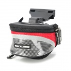 GUB 3341 Multifunction Dual Zippered Waterproof Bicycle / Bike Tail Bag - Red + Black