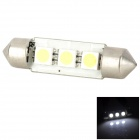 Lgfox Festoon 39mm 1W 50lm 6500K 3-5050 SMD LED Car License Plate / Reading / Dome Lamp (DC 12V)