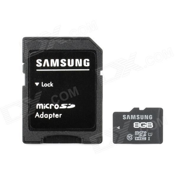 Samsung Class 10 Micro SDHC TF Card w/ TF to SD Card Adapter - Black + White (8GB) ssk scrm 060 multi in one usb 2 0 card reader for sd ms micro sd tf white
