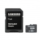 Samsung Class 10 Micro SDHC TF Card w/ TF to SD Card Adapter - Black + White (8GB)