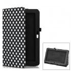 Dot Pattern Protective PU Leather Case Cover Stand for Samsung ATIV Smart PC XE500T - Black + White