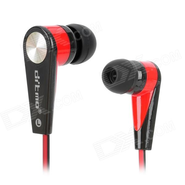 Ditmo DM-5630 In-ear Stereo Earphone - Black + Red