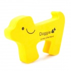Dog Shaped Baby Door Guards Finger Protector Stopper - Yellow