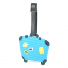 Cute Suitcase Style Travel Suitcase Luggage ID Tag - Blue + Black