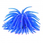 Rubber Artificial Soft Coral Decoration for Fish Tank / Aquarium - Blue