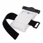 Protective Waterproof Bag Case w/ Strap / Armband for Samsung Galaxy Note 2 N7100 - Black + White