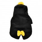 QQ Penguin Shaped Cotton Velvet Dog Apparel Pet Clothes - Black (Size L)