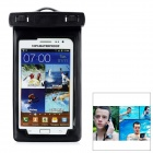 Protective Plastic Waterproof Bag Case w/ Strap / Armband for Samsung Galaxy Note 2 N7100 - Black