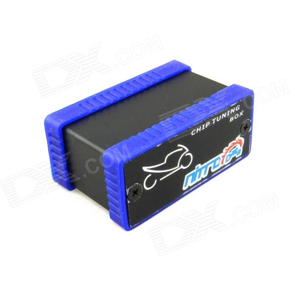 NitroData Chip Tuning Box ECU Flashing Connector for Motorcycles - Black + Blue